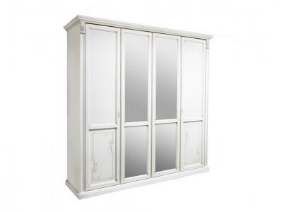 Шкаф для одежды «Яна» четырёхдверный (с зеркалом) ММ-300-01/04