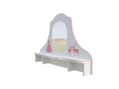 Зеркало с полкой для стола IC141Итальянская Классика Алетан