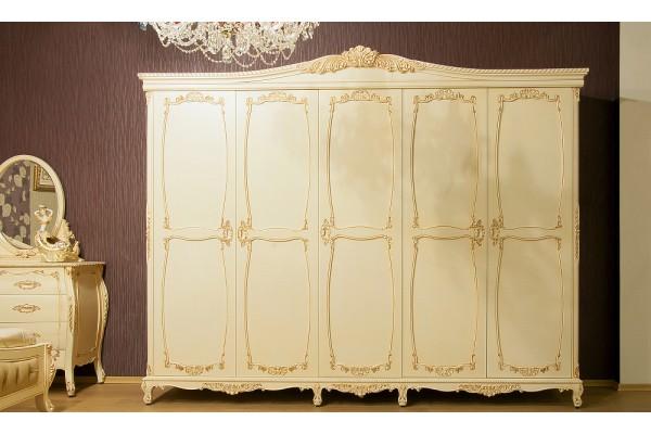 Шкаф для одежды пятидверный BL-02-09 WBG