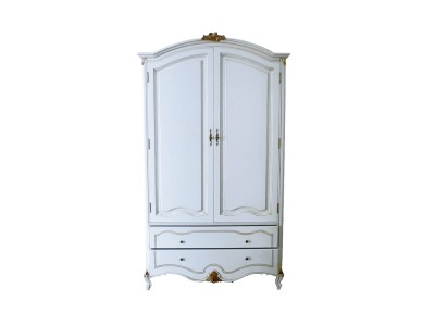 Шкаф для одежды двухстворчатый BL-26-4M белый