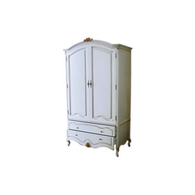 Шкаф для одежды двухстворчатый BL-26-4M белый  (New ivori+gold)