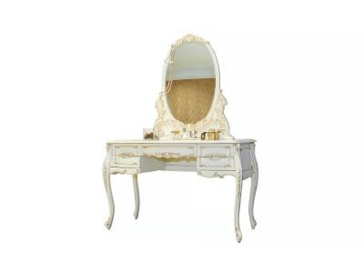 Стол туалетный BV-02-09 белый (New ivori+gold)
