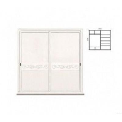 Шкаф-купе двухдверный для одежды «Соната» без зеркала (декор) ММ-283-01/02Р