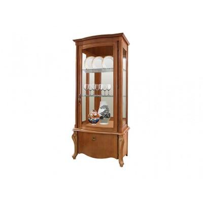Шкаф с витриной «Луиза» ММ-257-01/01