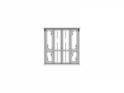 Шкаф для одежды «Яна» четырёхдверный ММ-300-01/04Б