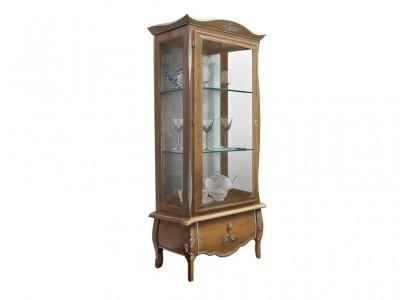 Шкаф с витриной  «Трио»  ММ-279-01