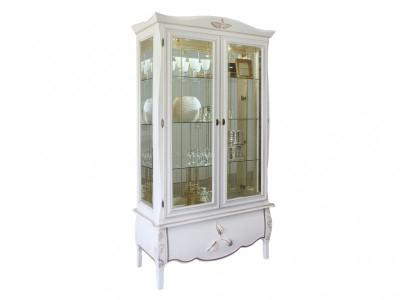 Шкаф двустворчатый с витриной  «Трио»  ММ-279-02