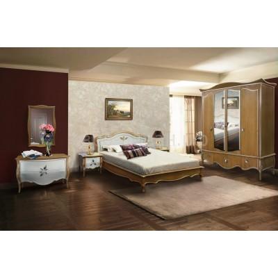 Кровать «Трио» 140 (низкое изножье) ММ-277-02/14Б