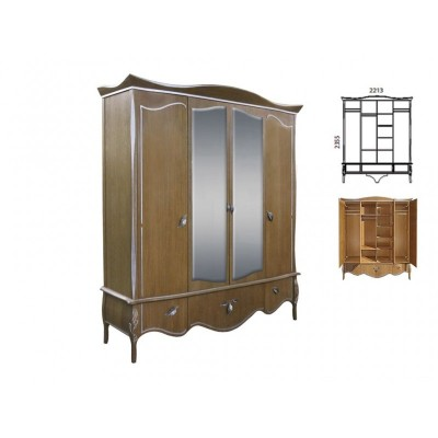 Шкаф для одежды четырехстворчатый  «Трио»  ММ-277-01/04