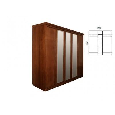 Шкаф для одежды «Нинель» пятидверный (с зеркалом) ММ-167-01/05