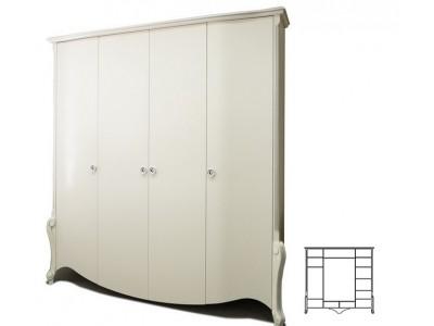 Шкаф для одежды «Луиза» ММ-227-01/04Б