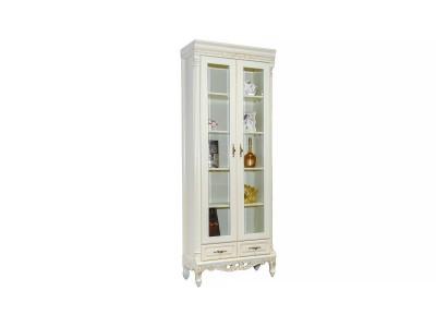 Шкаф книжный CB-137-2  белый (New ivori+gold)