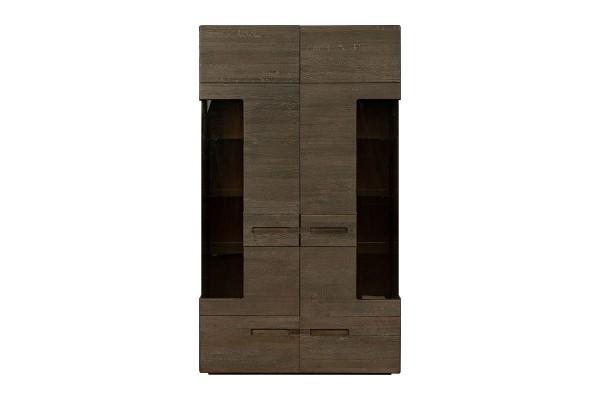 Шкаф-витрина 2д «Хедмарк 2256Бр» БМ760 венге