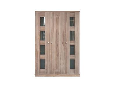 Шкаф для одежды 3д «Доминика 2121Бр» БМ711 брашированный серо-бежевый