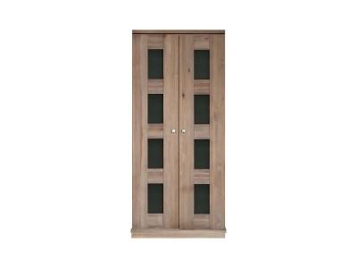 Шкаф для одежды 2д «Доминика 2122Бр» БМ711 брашированный серо-бежевый