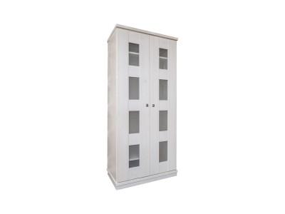 Шкаф для одежды 2д «Доминика 2122Бр» БМ711 белый воск