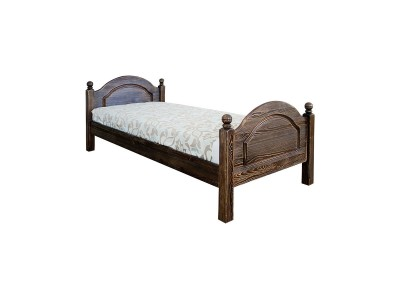 Кровать одинарная 1-09 «Лотос 8905» БМ701 брашированный мокко