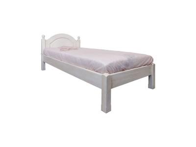 Кровать одинарная 1-09 «Лотос 8908БР» БМ701 брашированный крем