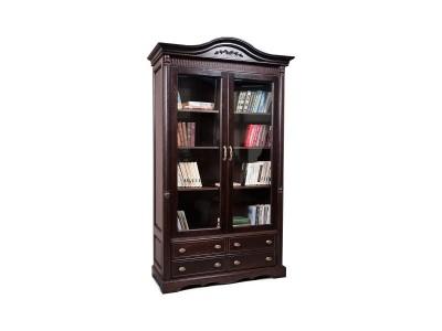 Шкаф книжный 2д «Паола 2151» БМ672 горячий шоколад