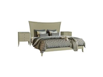 Кровать двойная 2-16 «Тиффани 2556» БМ681 олива