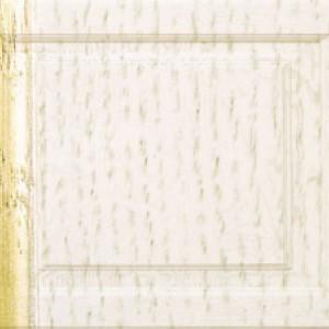 Белая эмаль с золотой патиной  (ММ)