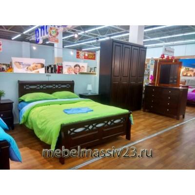 Кровать двуспальная 1.4-966-WSR-BW
