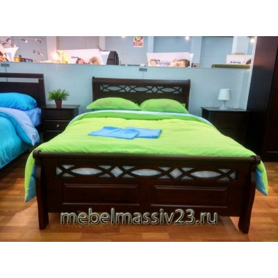 Кровать двуспальная 1.6-966-WSR-BW