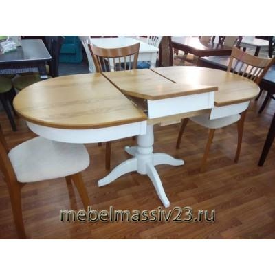 Стол Визард 2Р двухцветный (белый/орех)